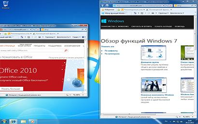 Windows+СТРЕЛКА ВЛЕВО/ВПРАВО